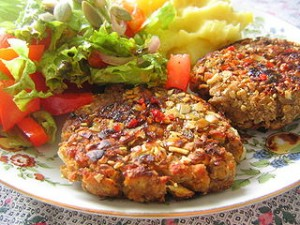 Light chickpea burgers