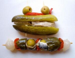 pickles and vinegar