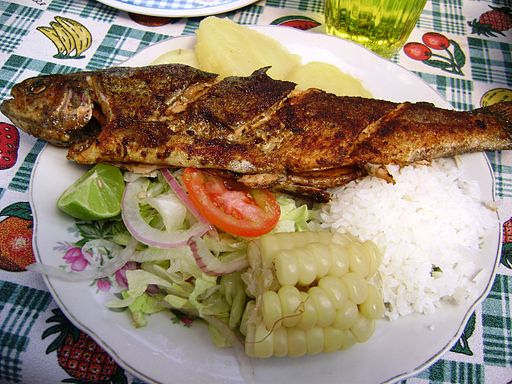 eating fish